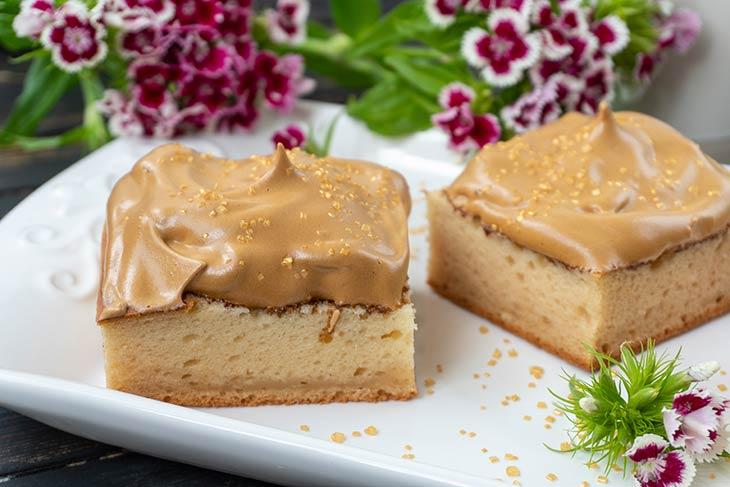 Vegan Dalgona Coffee Cake Dessert