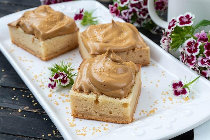 Vegan Dalgona Coffee Cake Recipe