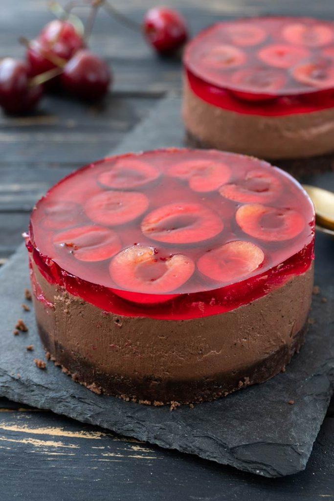 Cherry Chocolate Cheesecake Cheesecake cu cirese si ciocolata