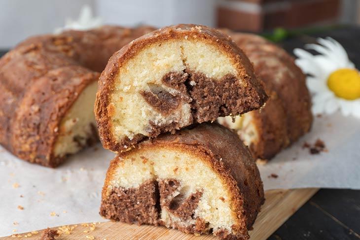 Chocolate Marble Cake Chec marmorat