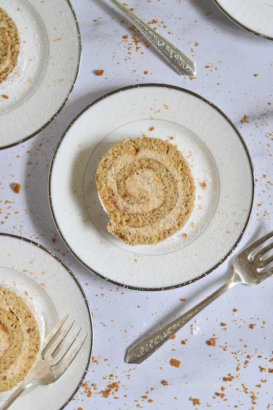 Cookie Butter Swiss Roll