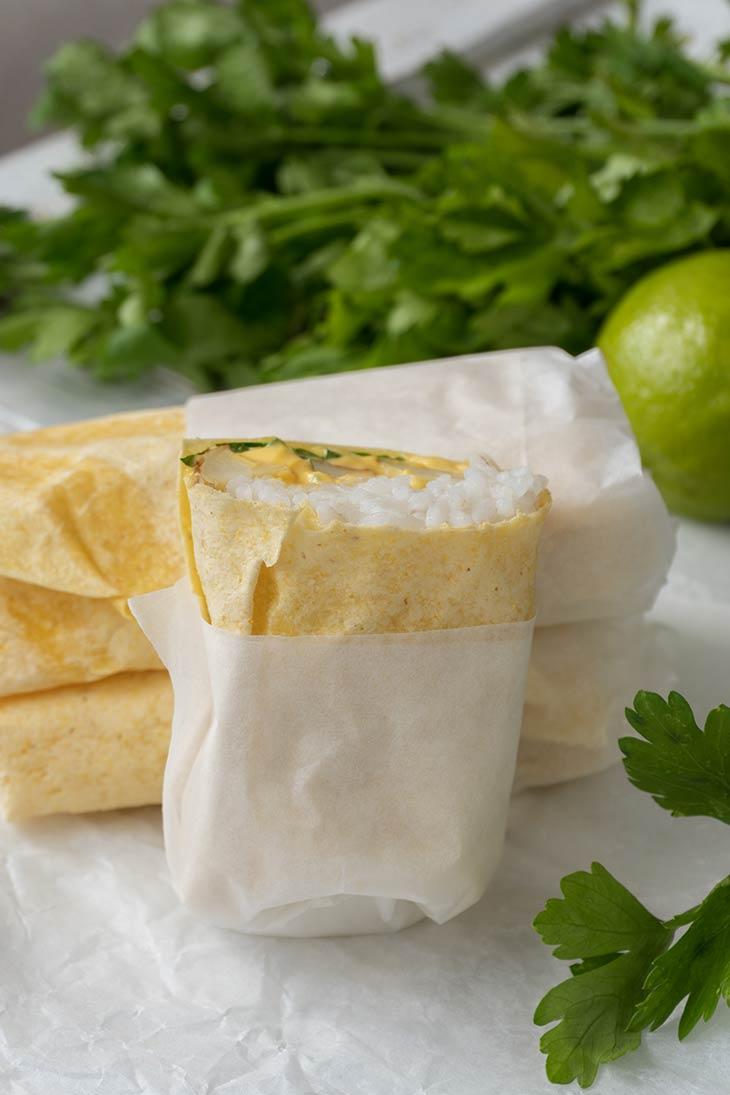 Potato Burritos for lunch