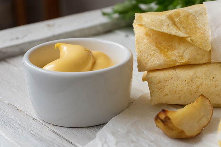Potato Burritos with sauce