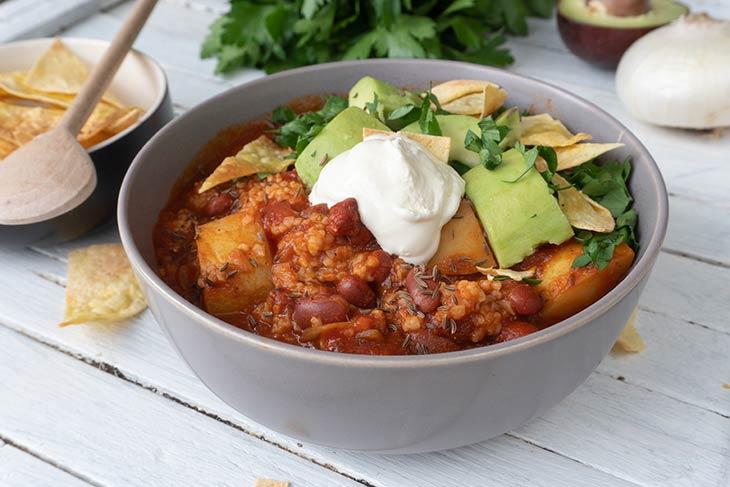Chili cu quinoa reteta mexicana