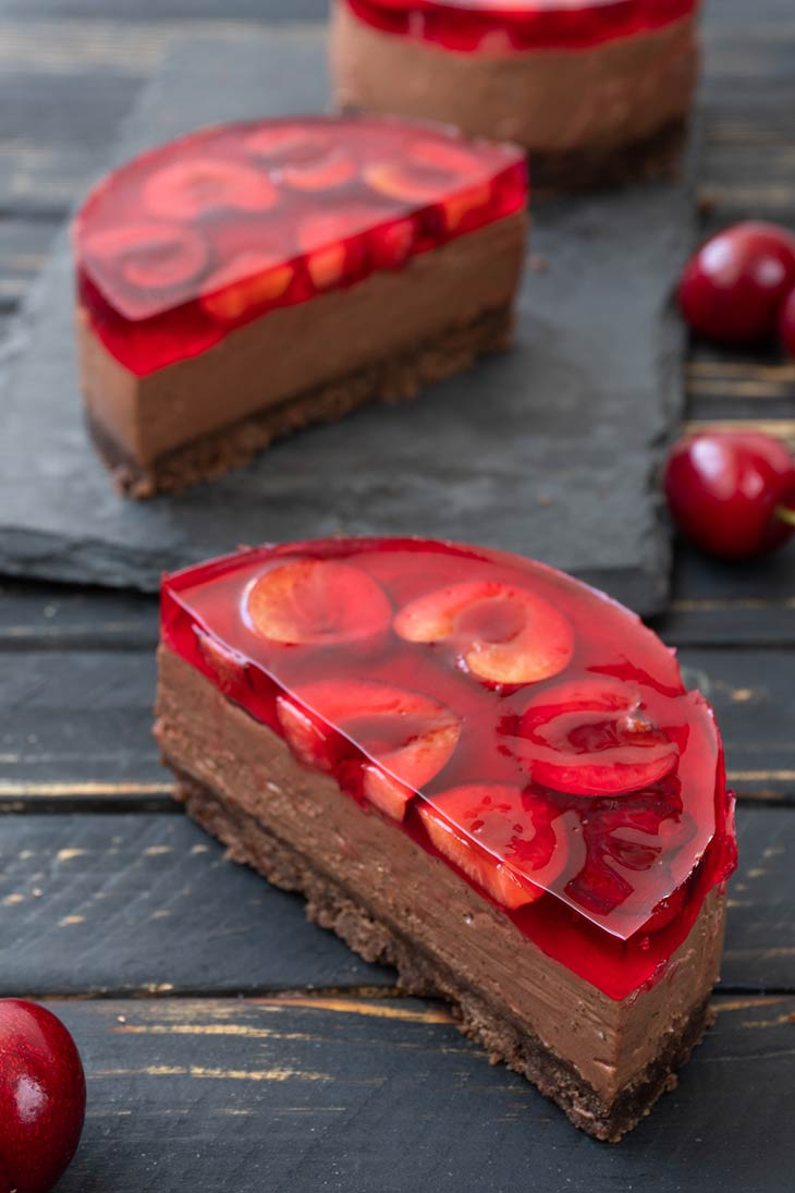 Vegan Cherry Cheesecake jelly
