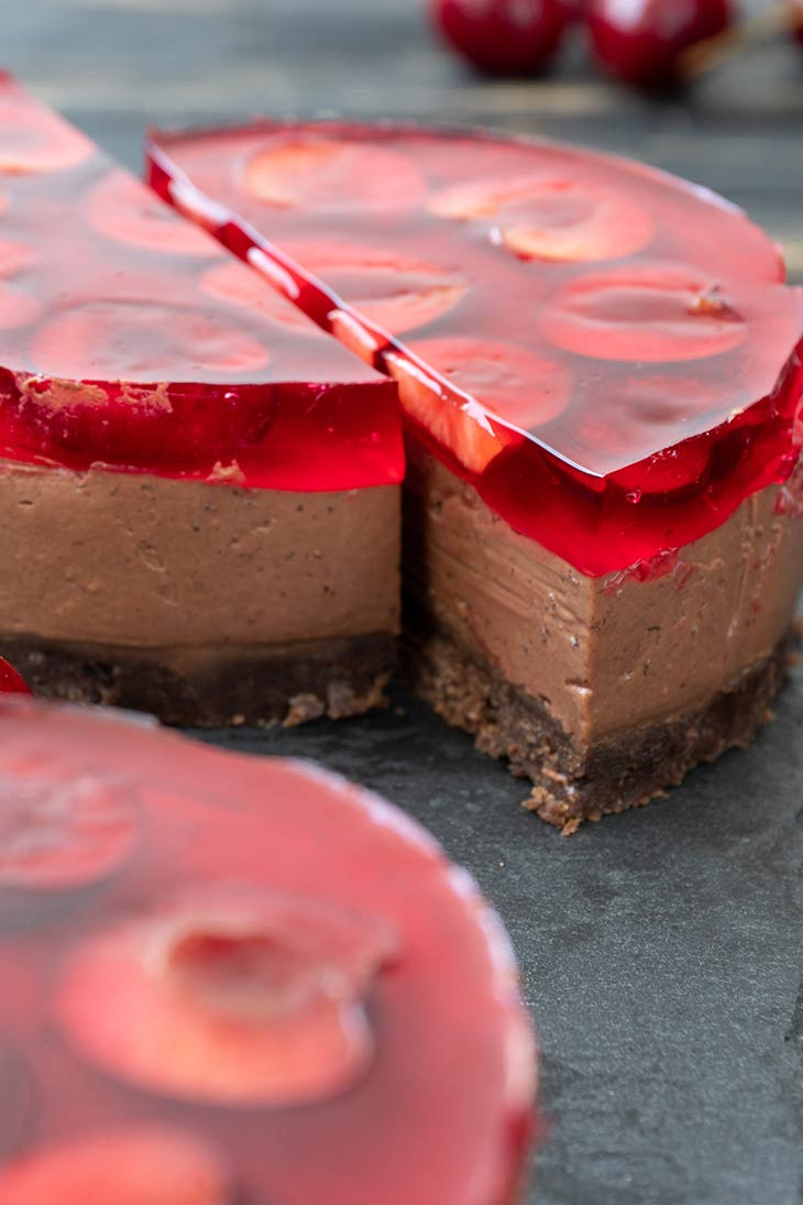 Vegan Cherry Cheesecake easy