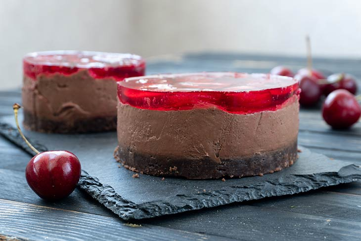 Vegan Cherry Chocolate Cheesecake recipe