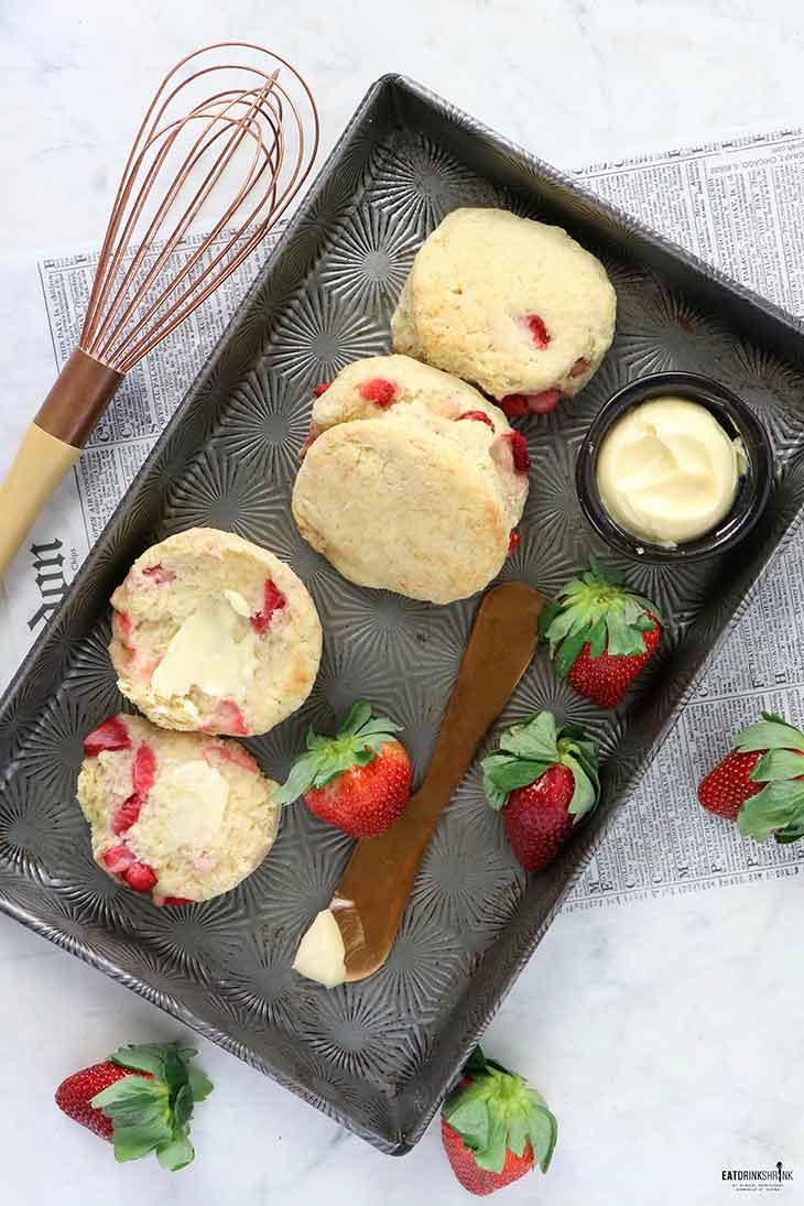 Vegan Strawberry Biscuits