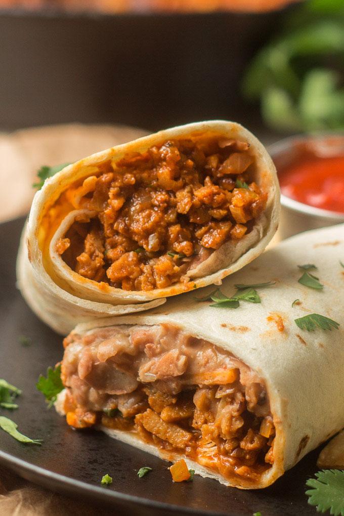 """Beefy"" Vegan Burritos"
