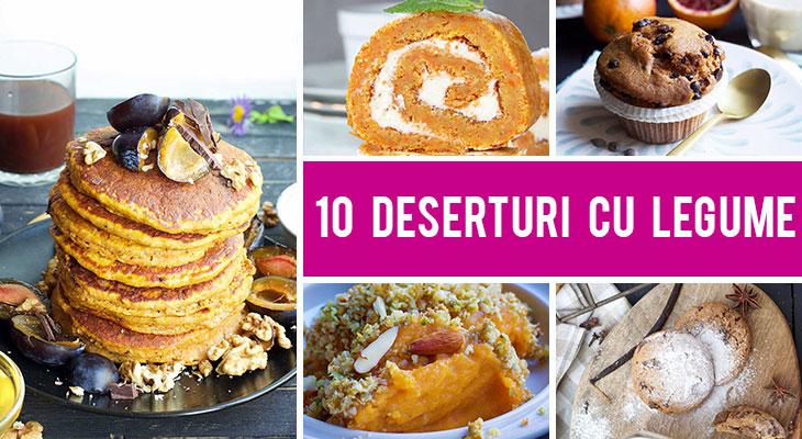 10 Moduri in care poti folosi legume in deserturi