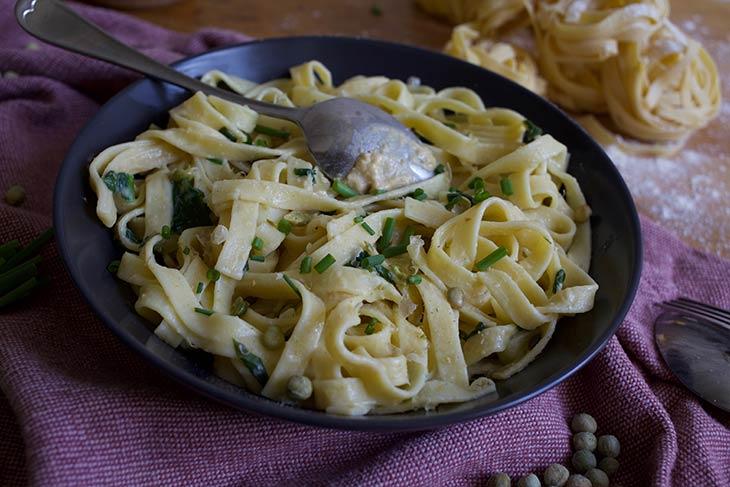 Chickpea Hummus Pasta