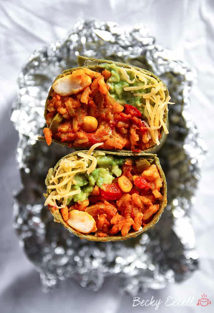 Gluten Free and Vegan Spicy Bean Burrito Recipe