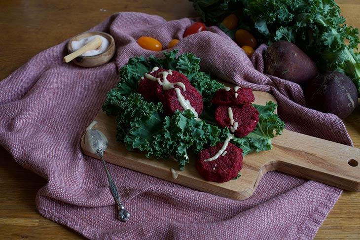 Pink Falafels vegan Recipe