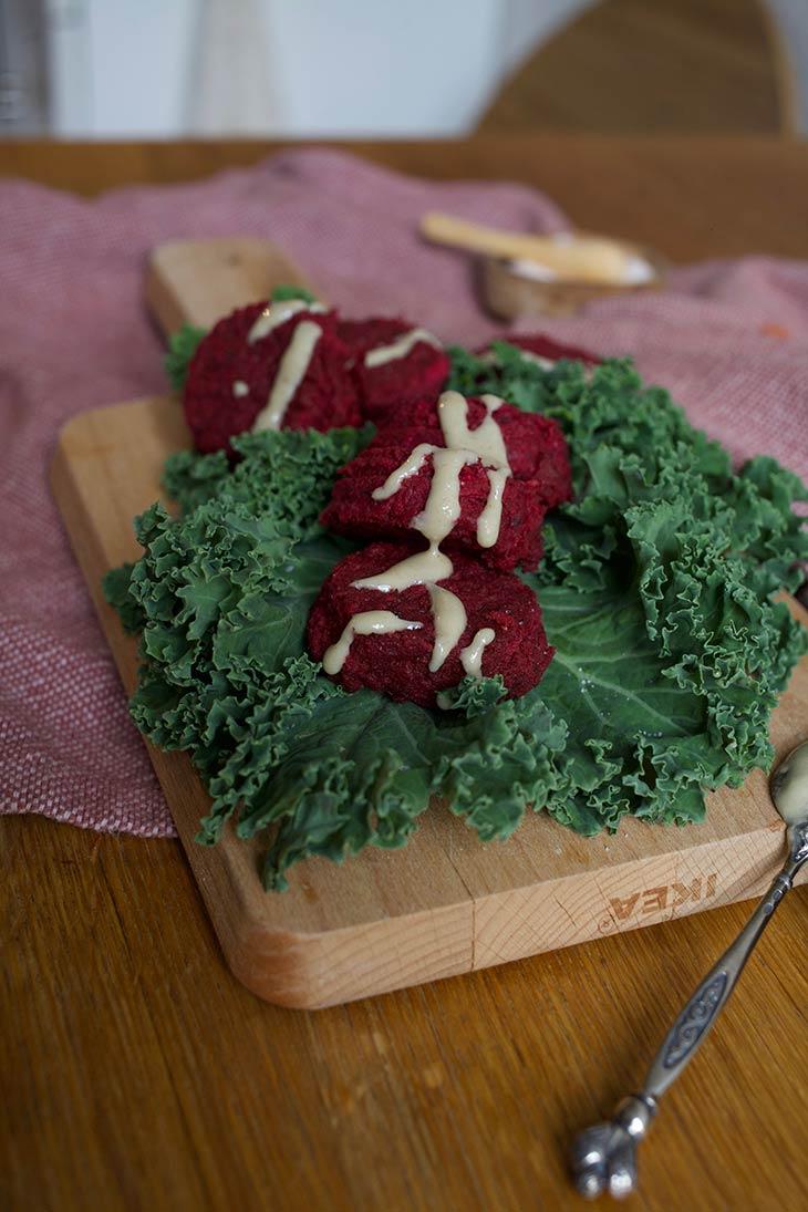 Vegan Pink Falafels