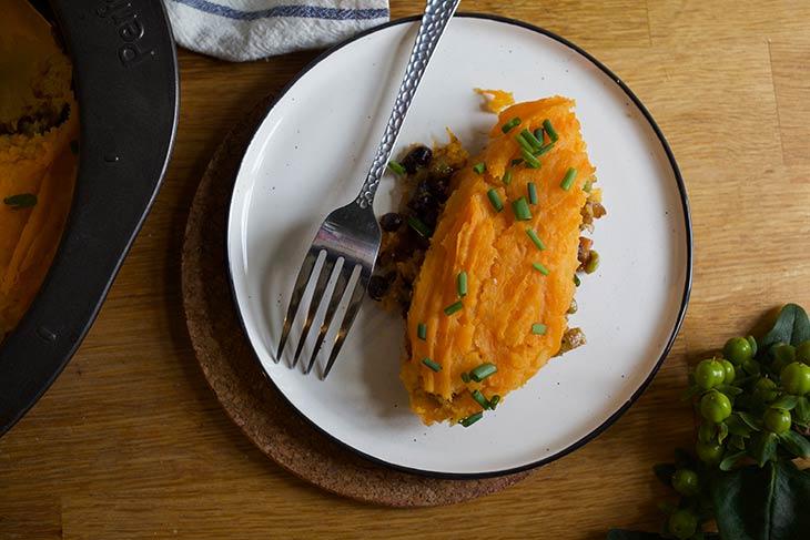 Placinta ciobanului cu cartofi dulci vegana