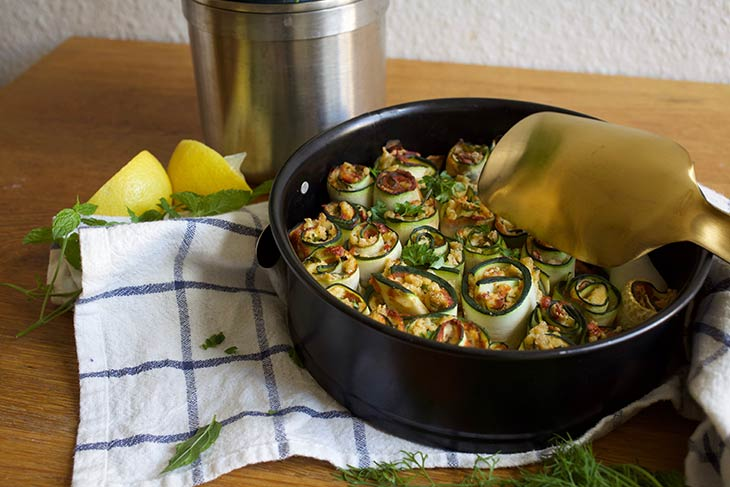 Zucchini Rollups Rulouri cu dovlecei