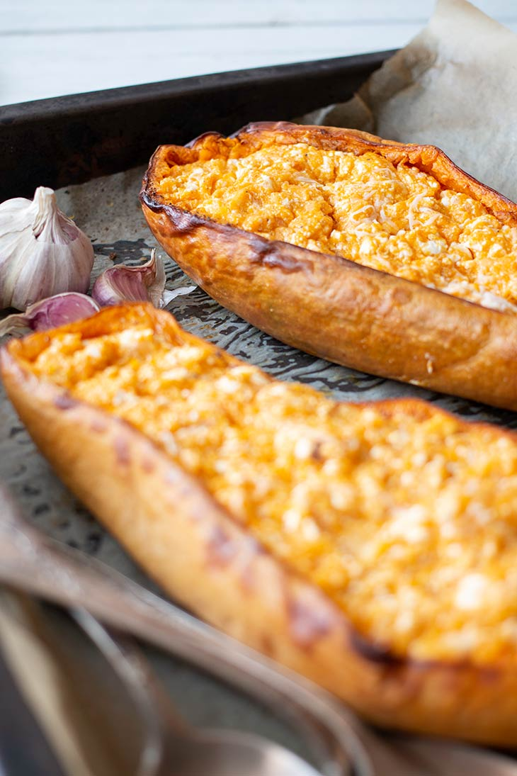 Cheesy Baked Butternut Squash recipe