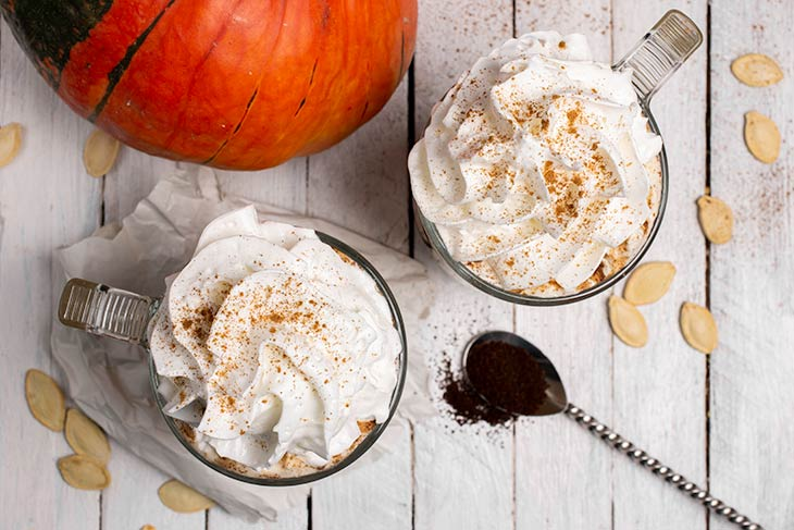 Vegan Pumpkin Spice Latte at home