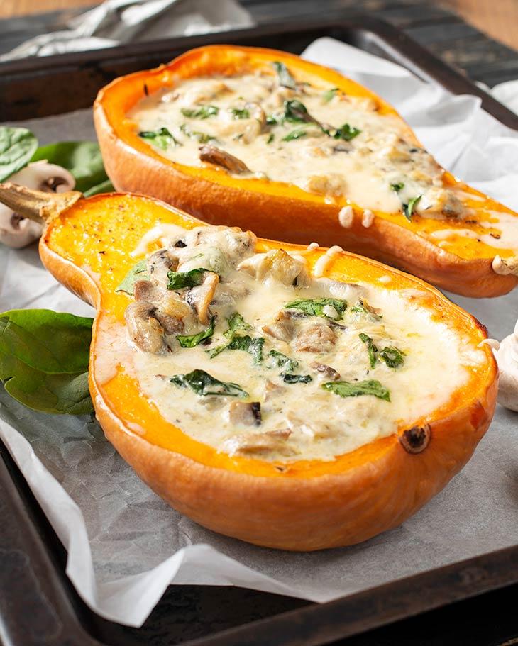 Stuffed Butternut Squash vegan recipe