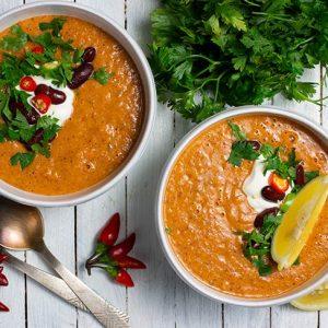Kidney Bean Soup Supa cu fasole rosie reteta