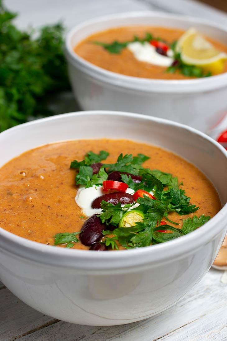 Vegan Kidney Bean Soup