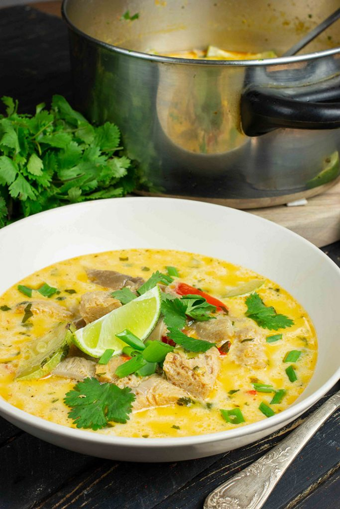 Coconut curry chicken soup recipe