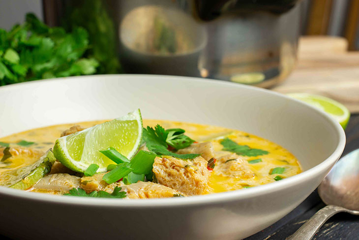 Coconut curry chick'n soup