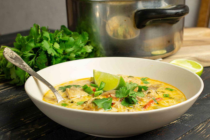 Coconut Curry Chick'n Soup recipe