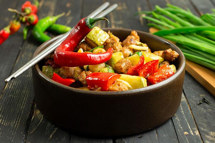 Vegan Kung Pao Chick'n recipe