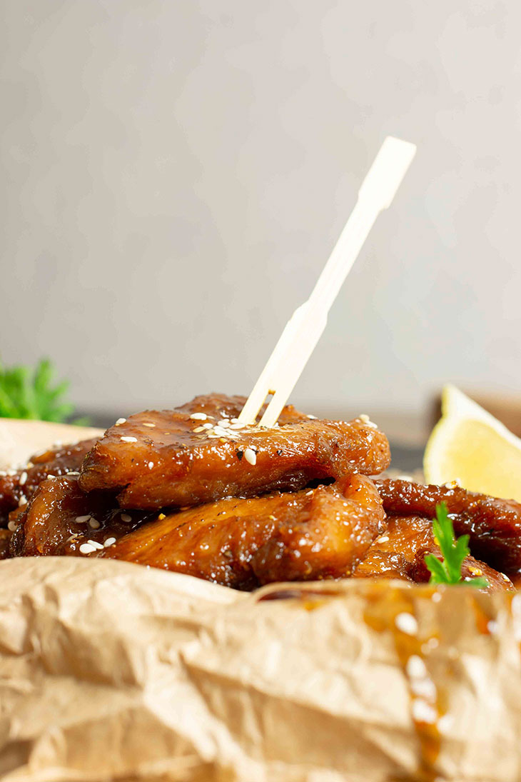 Vegan Teriyaki Wings Appetizer