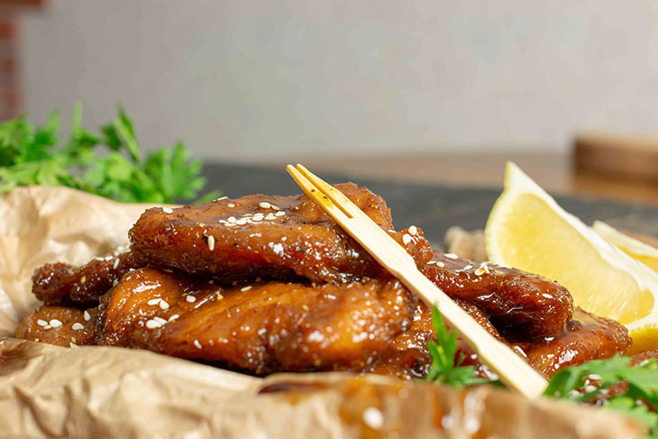 Vegan Teriyaki Wings Comfort Food