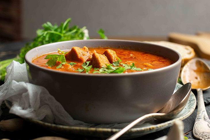 Vegetarian goulash soup