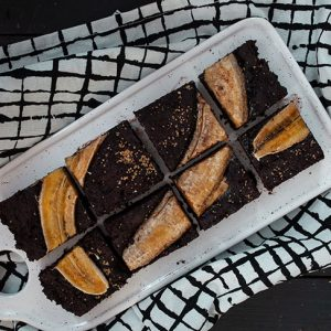 Banana brownies negrese cu banane