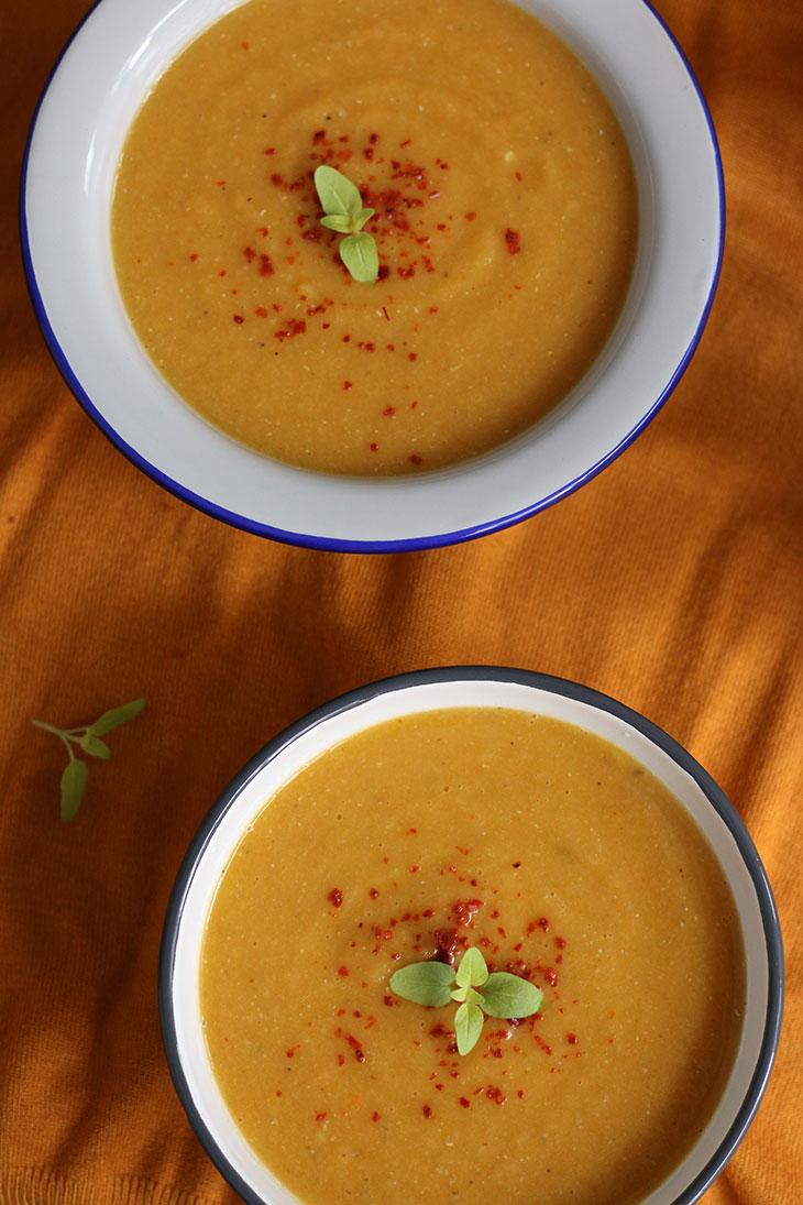 vegan Cream of vegetables soup