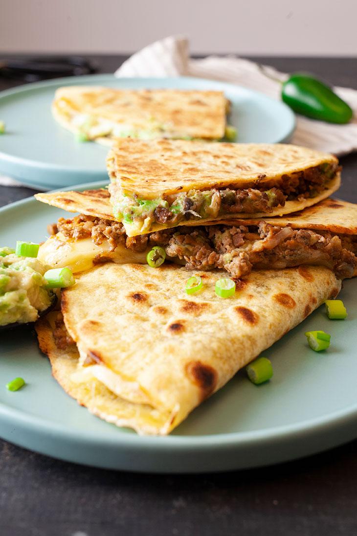 Ground Soy Quesadillas recipe