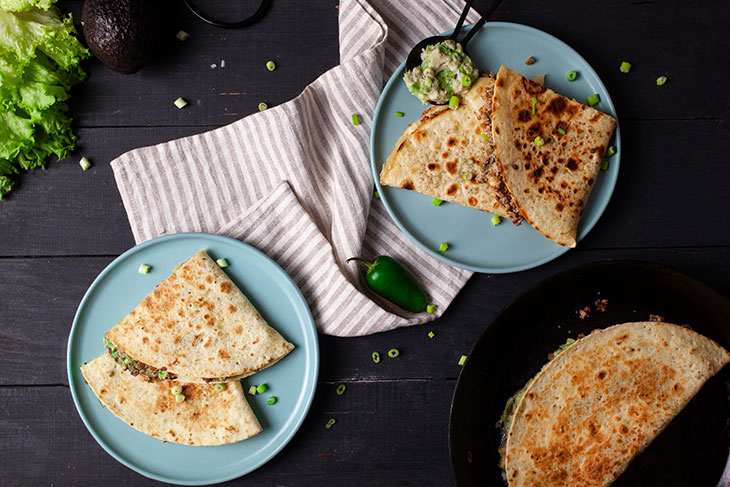 Ground Soy Quesadillas