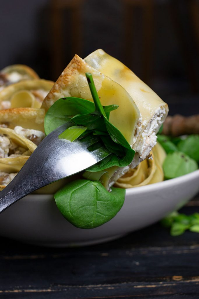 Mushroom Lasagna Roll-ups Italian