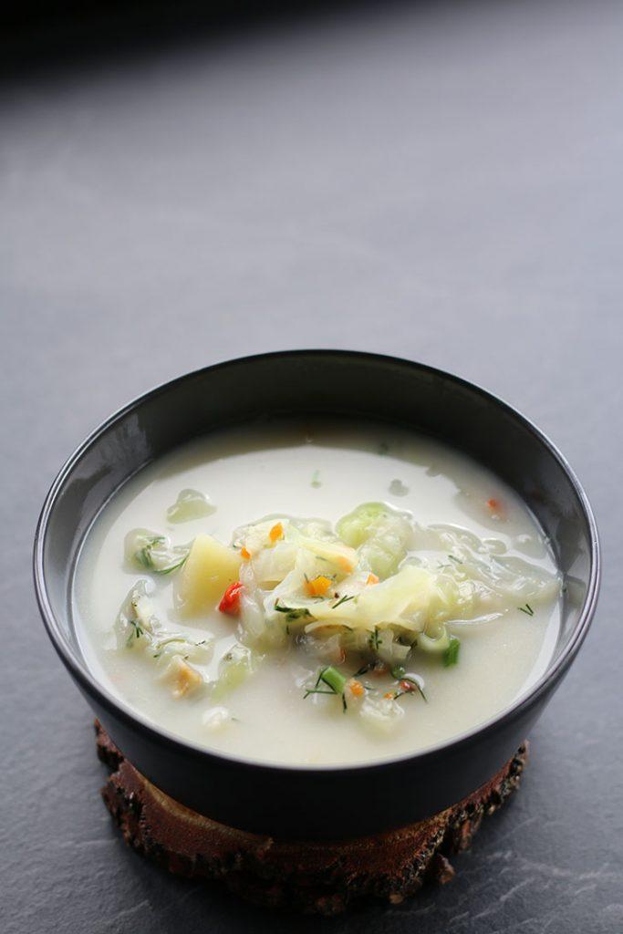 Potato Cabbage Soup vegan Ciorba de varza cu cartofi