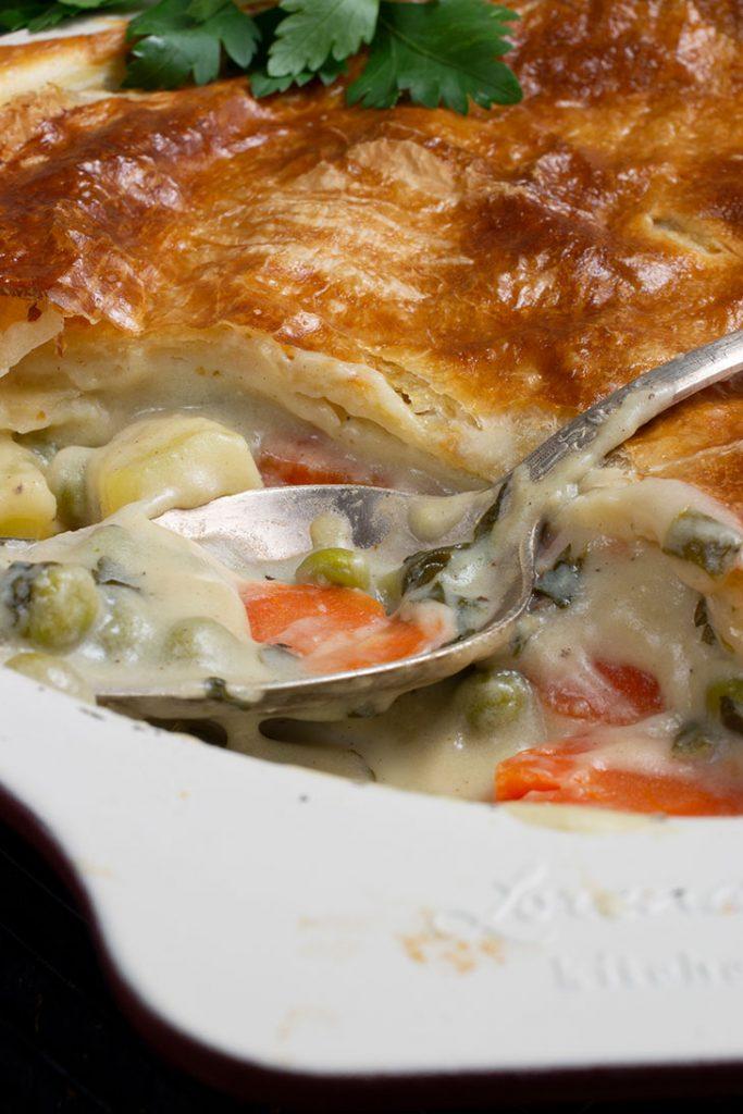 Vegetable pot pie pastry