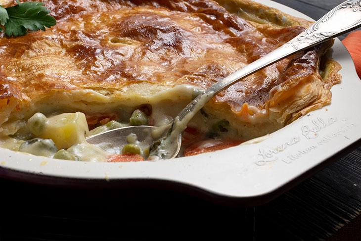 Vegetable pot pie vegan recipe