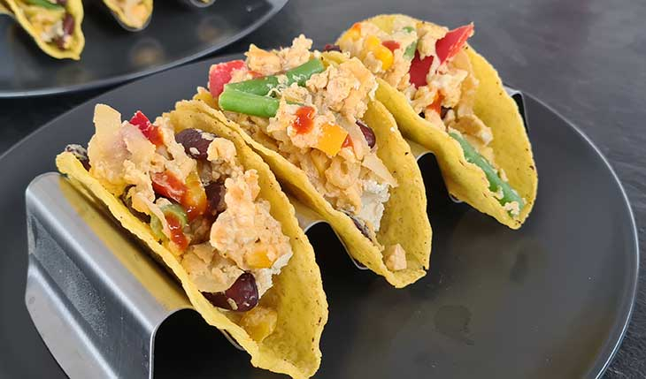 Breakfast Tacos with Scrambled eggs