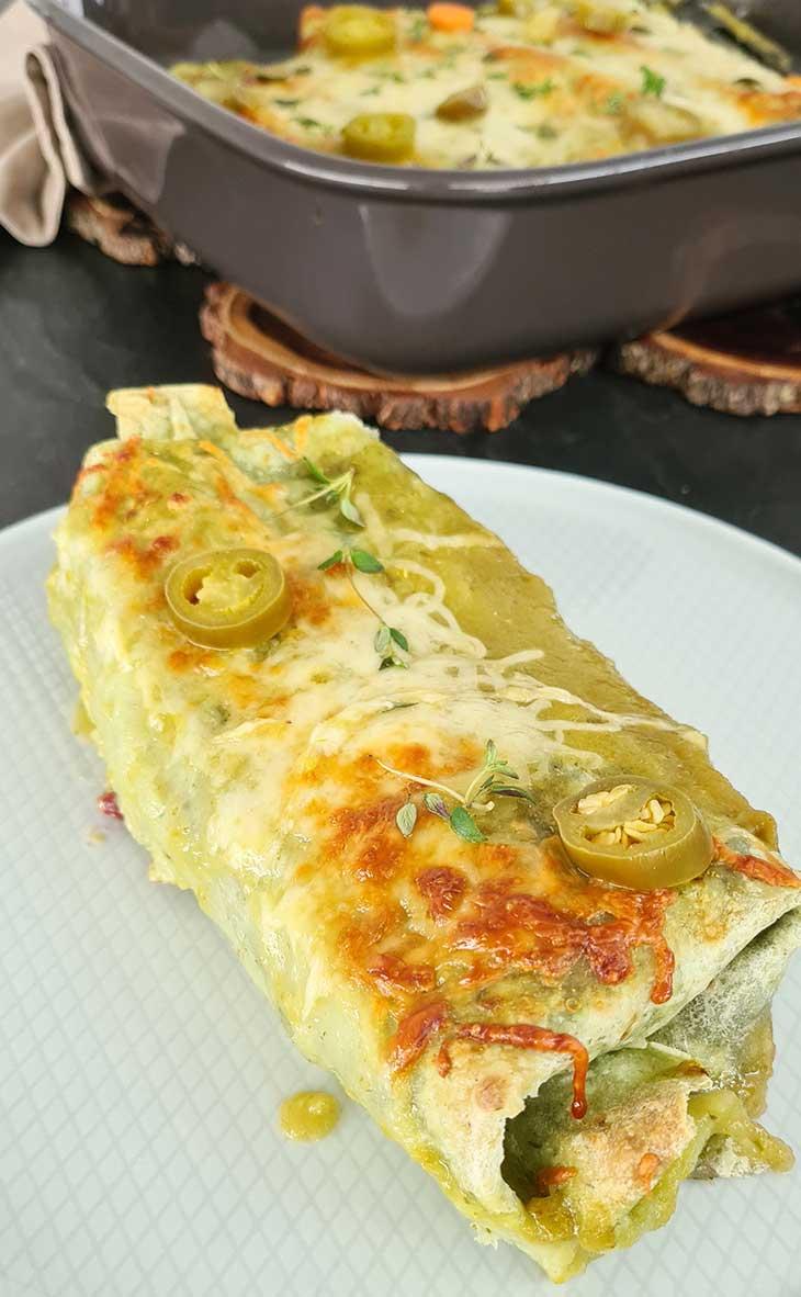 Enchiladas cu salsa verde la cuptor