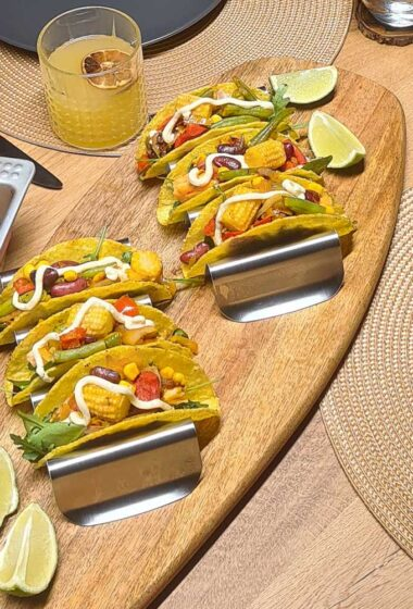 Hard Shell Veggie Tacos Mexican Recipe