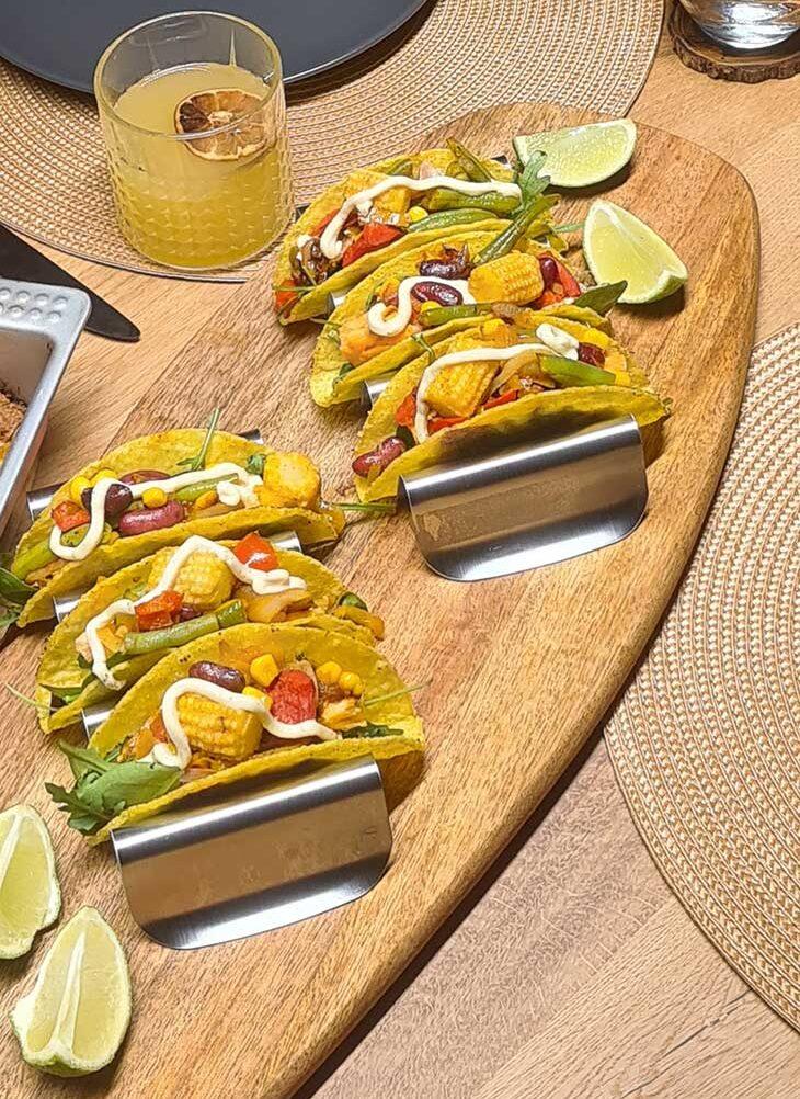 Hard Shell Veggie Tacos Mexican Recipe