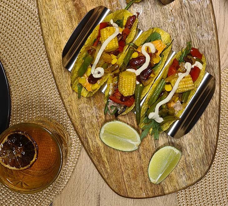 Hard Shell Veggie Tacos Recipe