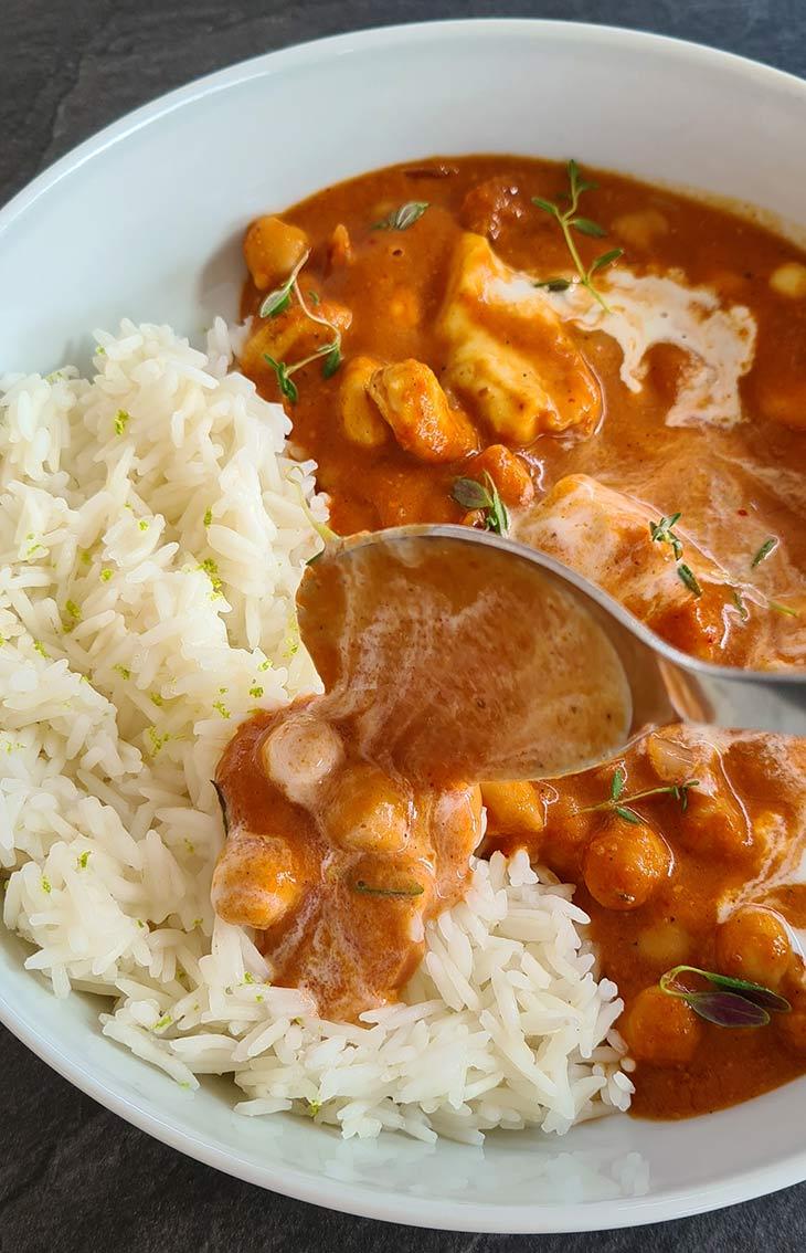 Chana Butter Paneer with Basmati Rice Recipe