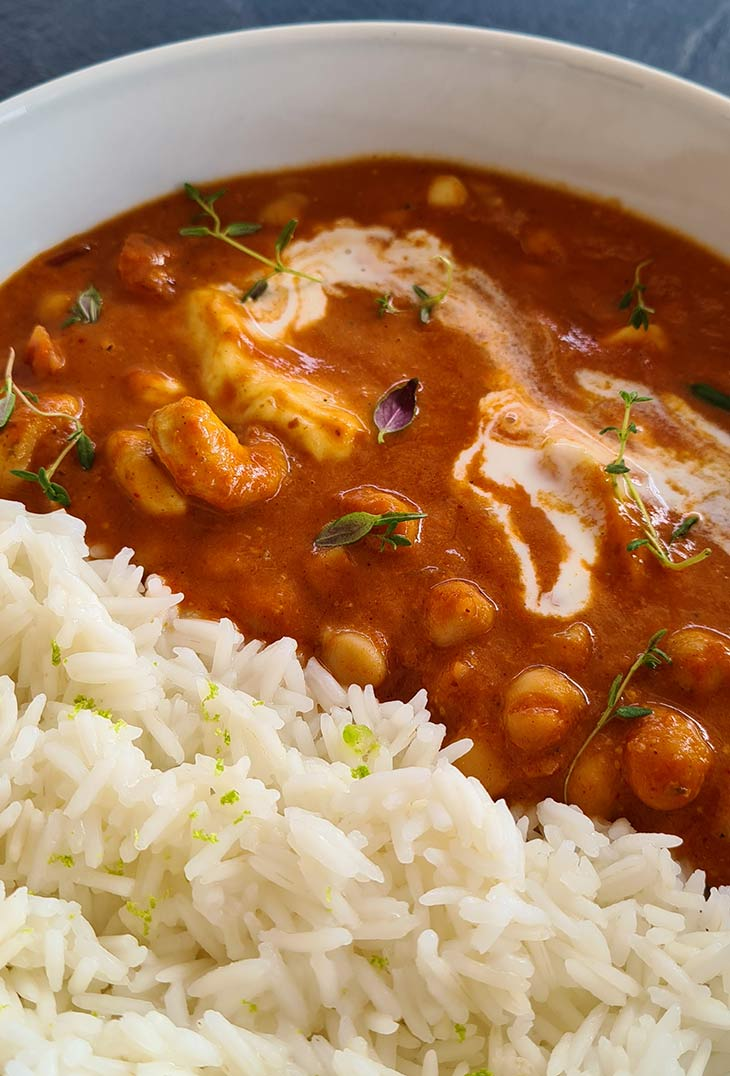 Chana Butter Paneer with Rice