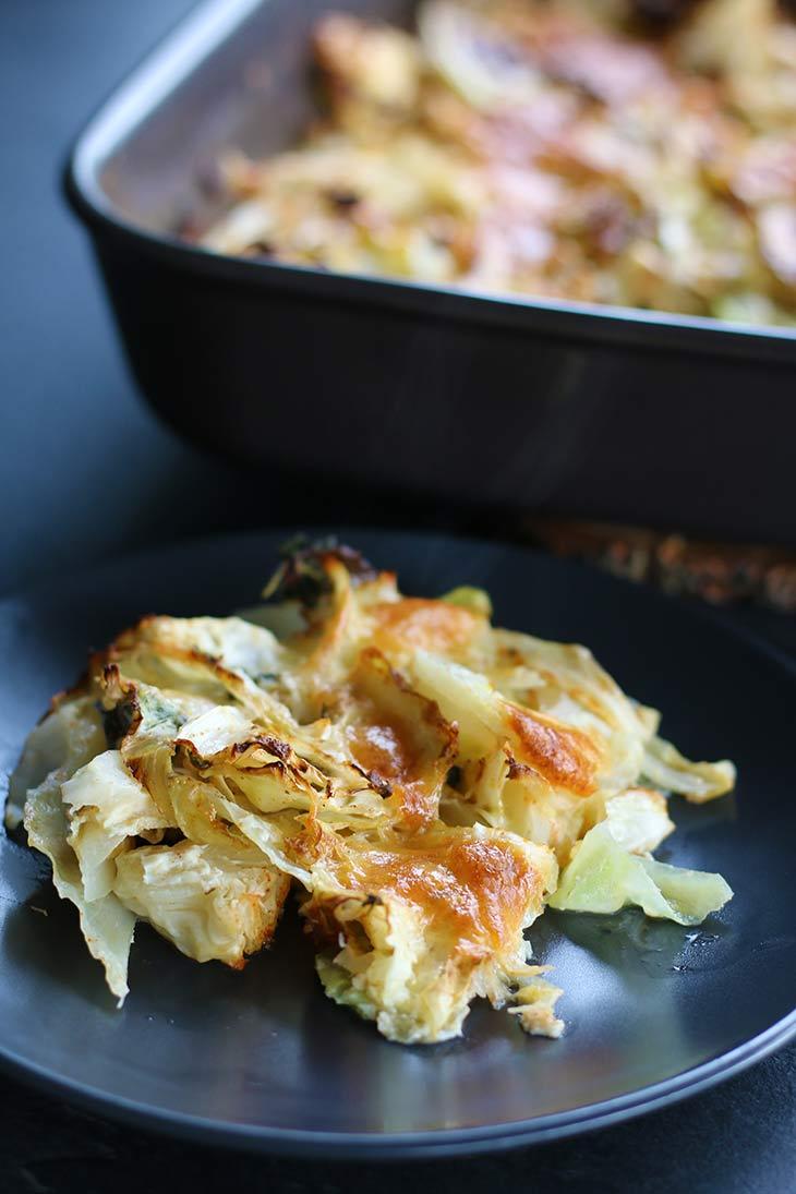 Cabbage Casserole with mozzarella