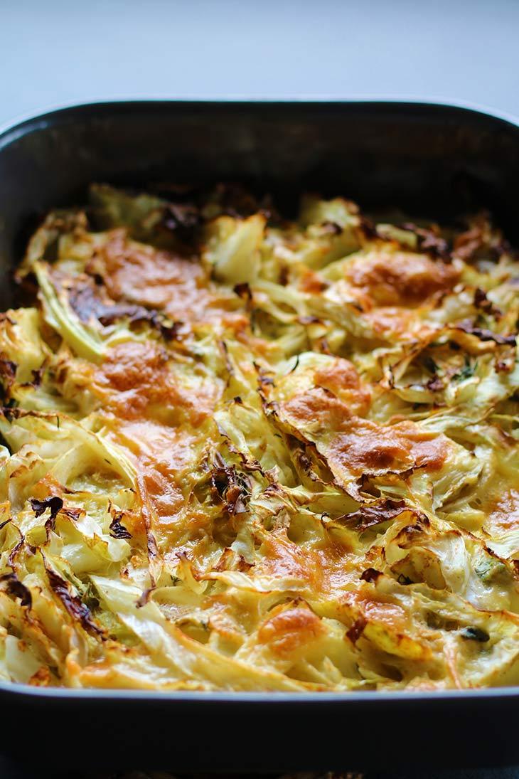 Cheesy Cabbage Casserole with mozzarella
