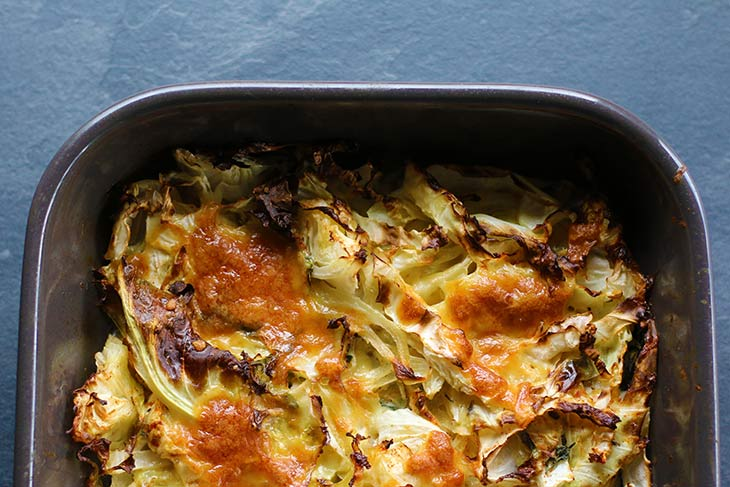 vegetarian Cheesy Cabbage Casserole